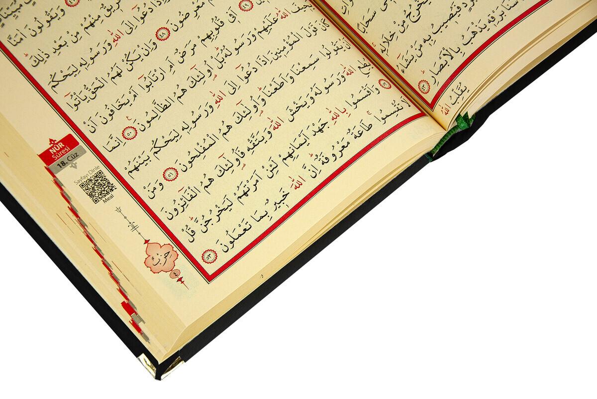 Mother's Day Gift Velvet Covered Quran - Plain Arabic - Medium - Black
