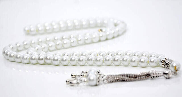 Name Printed Hardlied Yasin Book - Medium Size - 80 Pages - Pearl Rosary - Personalized Gift