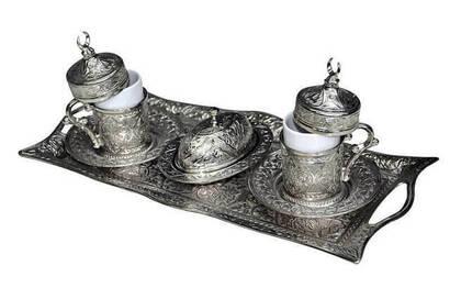 İhvan - Nostalgic Cup and Tray Set (Hilalli) - 7127