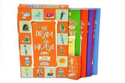 Mavi Lale Çocuksu - One Phrase One Story Religious Educational Book Set (5) -1128