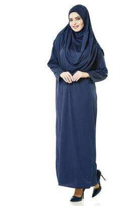 İhvan - One Piece Prayer Dress - Navy Blue - 5015