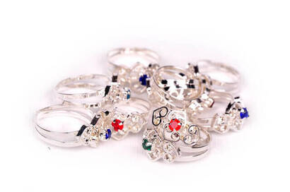 İhvan - One Stone Child Ring (Pack) -6123