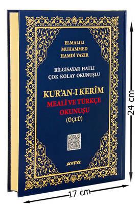 Ayfa Yayınevi - Orta Boy Kuranı Kerim Meali ve Türkçe Okunuşu - Üçlü