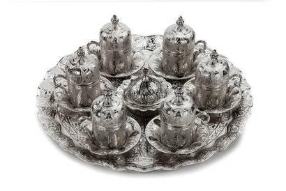 İhvan - Oryant Tuğra 6'lı Kahve Seti Kutulu 139-K-11