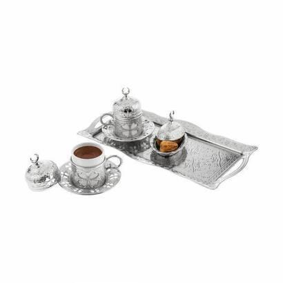 İhvan - Oryant Yonca 2'li Kahve Seti Kutulu 125-S-K-11