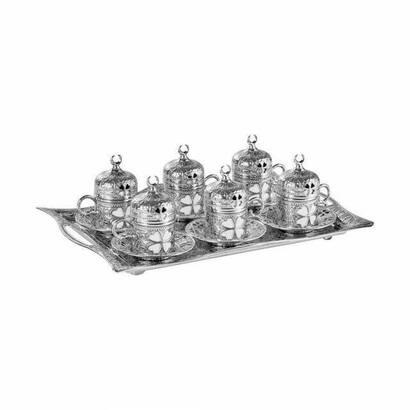 İhvan - Oryant Clover Rectangular 6 Piece Coffee Set Boxed 241-K-11