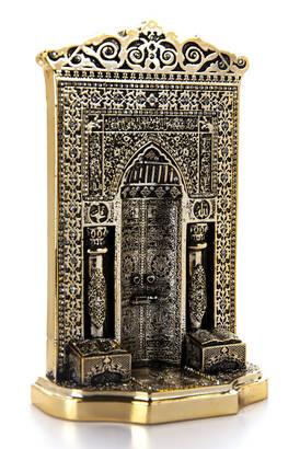 İhvan - Osmanlı Desen Cami Mihrabı Kristal Taş Süslemeli Dini Hediyelik Biblo Gold Renk