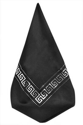 İhvan - Panel Patterned Black Cover with Leaf