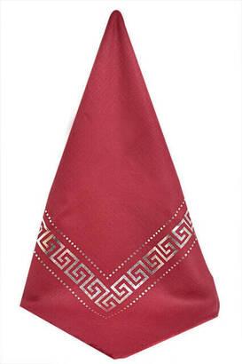 İhvan - Pano Desenli Varaklı Kırmızı Örtü