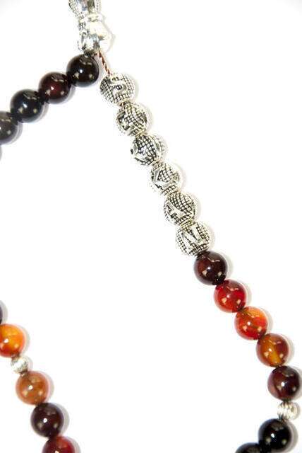 Personalized Agate Natural Stone Tasbih with 33