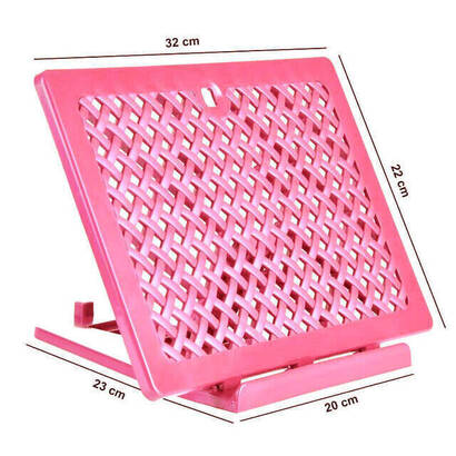 İhvan - Plastic Rahle - Practical Rahle - Table Top Rahle - Book Reading Stand - Pink Color
