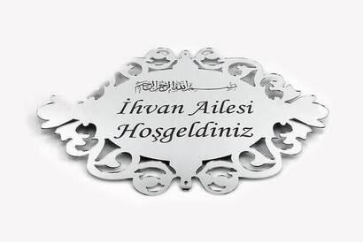 İhvan - Pleksi Kapı Süsü 3 - Gümüş