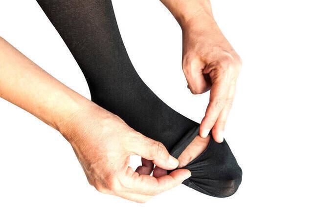 Pratik Hac Umre Abdest Çorabı - Siyah