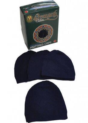 İhvan - Prayer Cap Lace Navy Blue (Dozen)