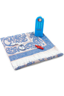 İhvan - Prayer Rug That Teaches How to Pray - With Headphones - With Compass - Uzbek