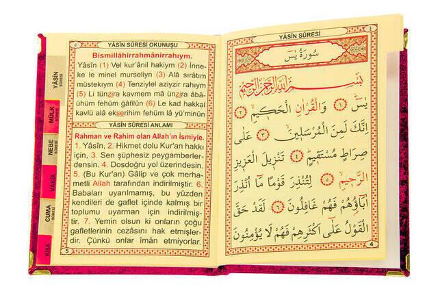 Prayer Rug, Velvet Yasin and Rosary Set for Mother's Day