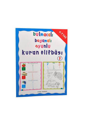 UYSAL YAYINEVİ - Puzzle, Coloring, Playful Quran Elifbasi Religious Educational Book 1-1197