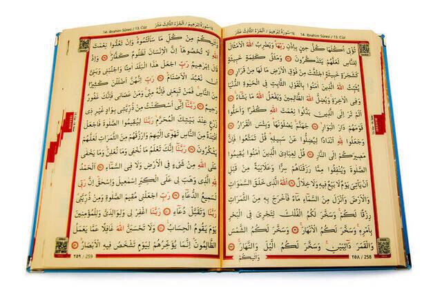 Quran Karim - Allah Lyric - Pearl Rosary - Plain Arabic - Blue Color - Yellow Plexi - Computer-Lined
