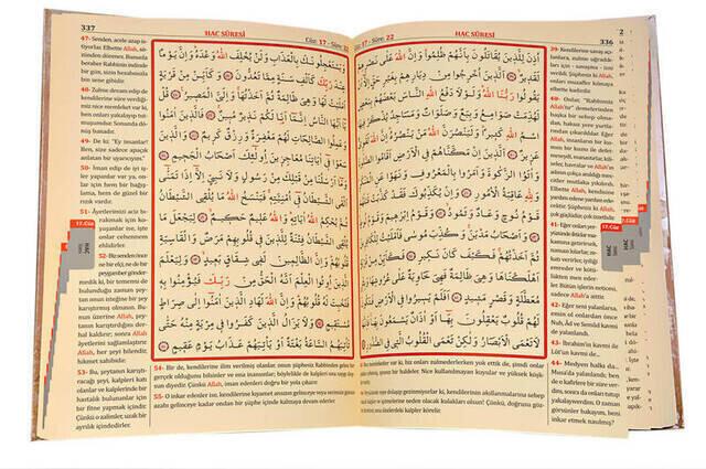 Quran Karim and Yucel Meali - Arabic and Meal - Medium - Computer-Lined