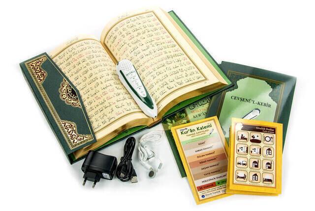 Quran Reciter Digital Pen - Medium Size - Green - Hayrat Nesriyat