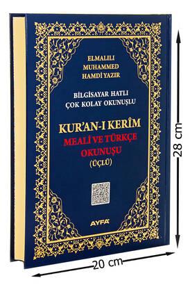 Ayfa Yayınevi - Rahle Boy Kuranı Kerim Meali ve Türkçe Okunuşu - Üçlü