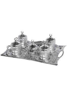 İhvan - Sena Clover Cup Coffee Set for 4 People