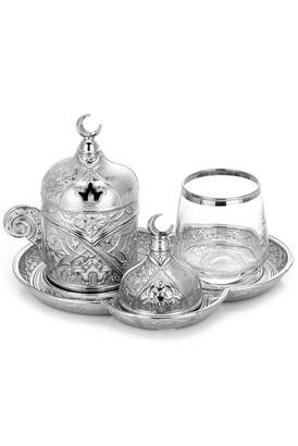 İhvan - Sena Ziyafet Single Coffee Presentation Set with Silver Box