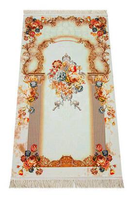 İhvan - Simli Seccade - Kutulu - Turuncu Renk
