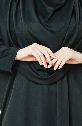 Siyah Namaz Elbiseli İbadet Seti