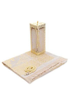 İhvan - Special Gift Boxed Prayer Beads Rosary Set Cream