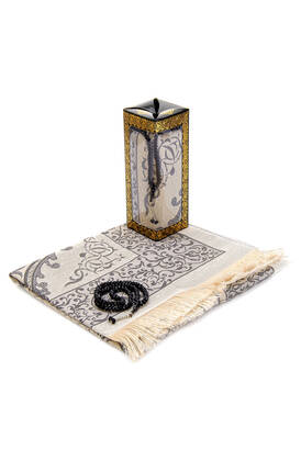 İhvan - Special Gift Boxed Prayer Rug Rosary Set Black