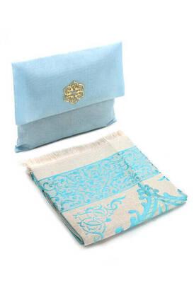 İhvan - Tafta Seccade - Şantuk Keseli - Mavi Renk