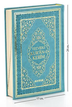 Ayfa Yayınevi - Tajwid Quran - Thermo Leather - Medium Size - Turquoise Color - Ayfa Publishing House - Computer Line