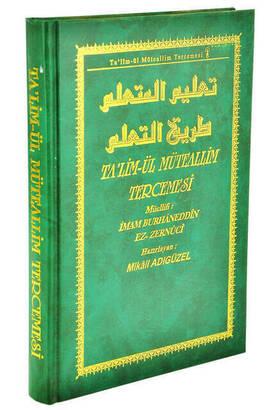YASİN YAYINEVİ - Talimül Müteallim Tercemesi - M. Adıgüzel - Yasin Kitap