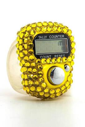 İhvan - Taşlı Zikirmatik - Dijital Yüzük - Sarı Renk
