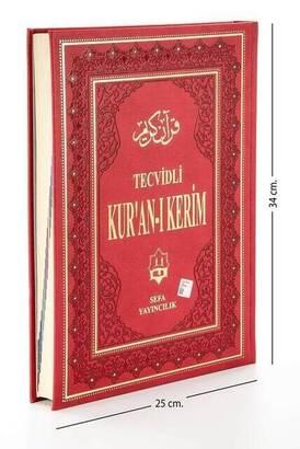 Sefa Yayıncılık - Tecvidli Kuran Karim - Termo Deri - Cami Boy - Sefa Publishing House
