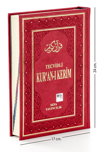 Sefa Yayıncılık - Tecvidli Kuran Karim - Thermo Leather - Medium Size - Sefa Publishing House - Computer Lined
