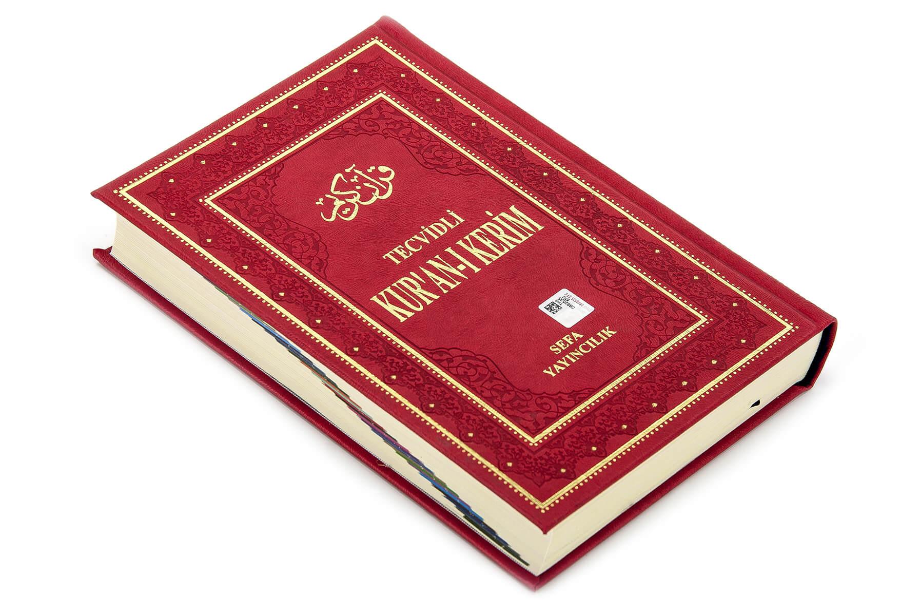 Tecvidli Kuran Karim - Thermo Leather - Medium Size - Sefa Publishing House - Computer Lined
