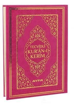 Ayfa Yayınevi - Tecvidli Kuran Karim - Thermo Leather - Rahle Boy - Computer Lined - Pink Color - Ayfa Publishing House