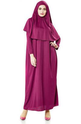 İhvan - Tek Parça Namaz Elbisesi - Fuşya - 5015