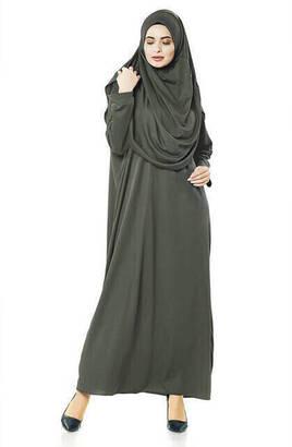İhvan - Tek Parça Namaz Elbisesi - Haki - 5015