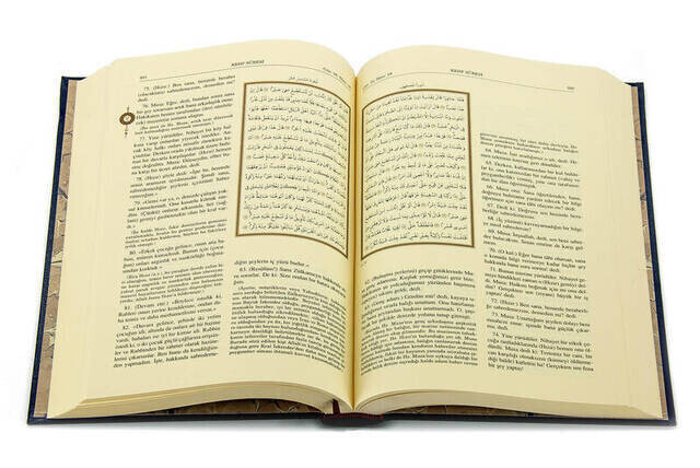 The Holy Quran and Its Annotated Meaning - Arabic and Meal - Medium Size - Computer Line