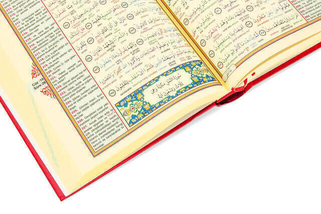 The Holy Quran and its Colorful Word Means - Medium Size - Ebabil Publishing - Computer Line
