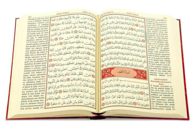 The Holy Quran and its Reading in Color Turkish Medium Size - Seda Publications - Computer Line