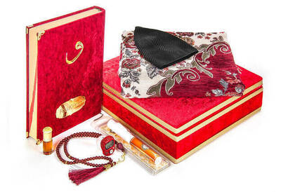 İhvan - The Special Gift Set, Quran Covered Velvet and Theirs Box