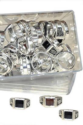 İhvan - Tugra Men's Ring (42 Pieces) -6113