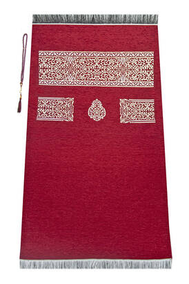İhvan - Ultra Plus Kaaba Cover Prayer Rug Claret Red