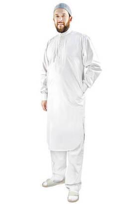 İhvan - Umrah and Hajj Dress Afghan Team - Bottom and Top - White - 3172