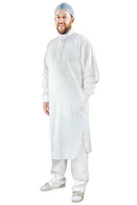 İhvan - Umre ve Hac Kıyafeti Afgan Takımı - Alt ve Üst - Beyaz