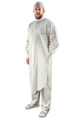 İhvan - Umre ve Hac Kıyafeti Afgan Takımı - Alt ve Üst - Krem